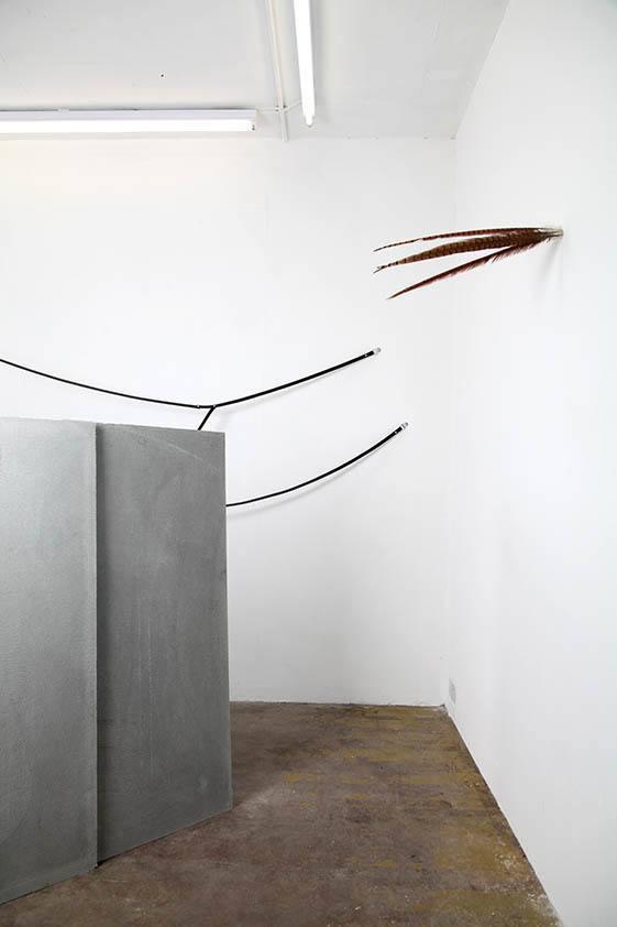 Simona Brinkmann. Blank Stare, Flat Hollow (2013) at Five Years, London. Installation view.