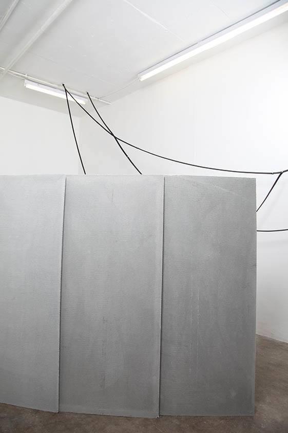 SImona Brinkmann. Blank Stare, Flat Hollow (2013). Installation view.