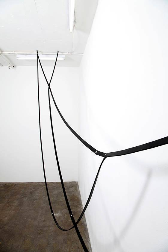 Simona Brinkmann. Arm's Length - detail (2013). Leather, metal fittings.
