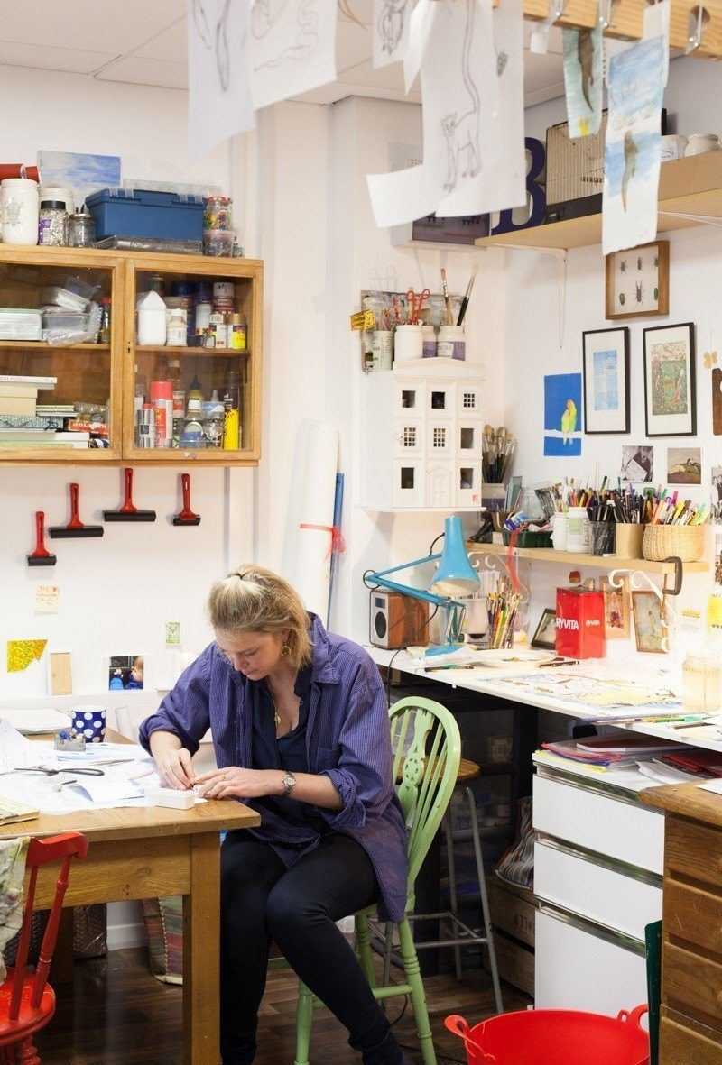 Beatrice von Preussen artist's studio shot by Trent McMinn