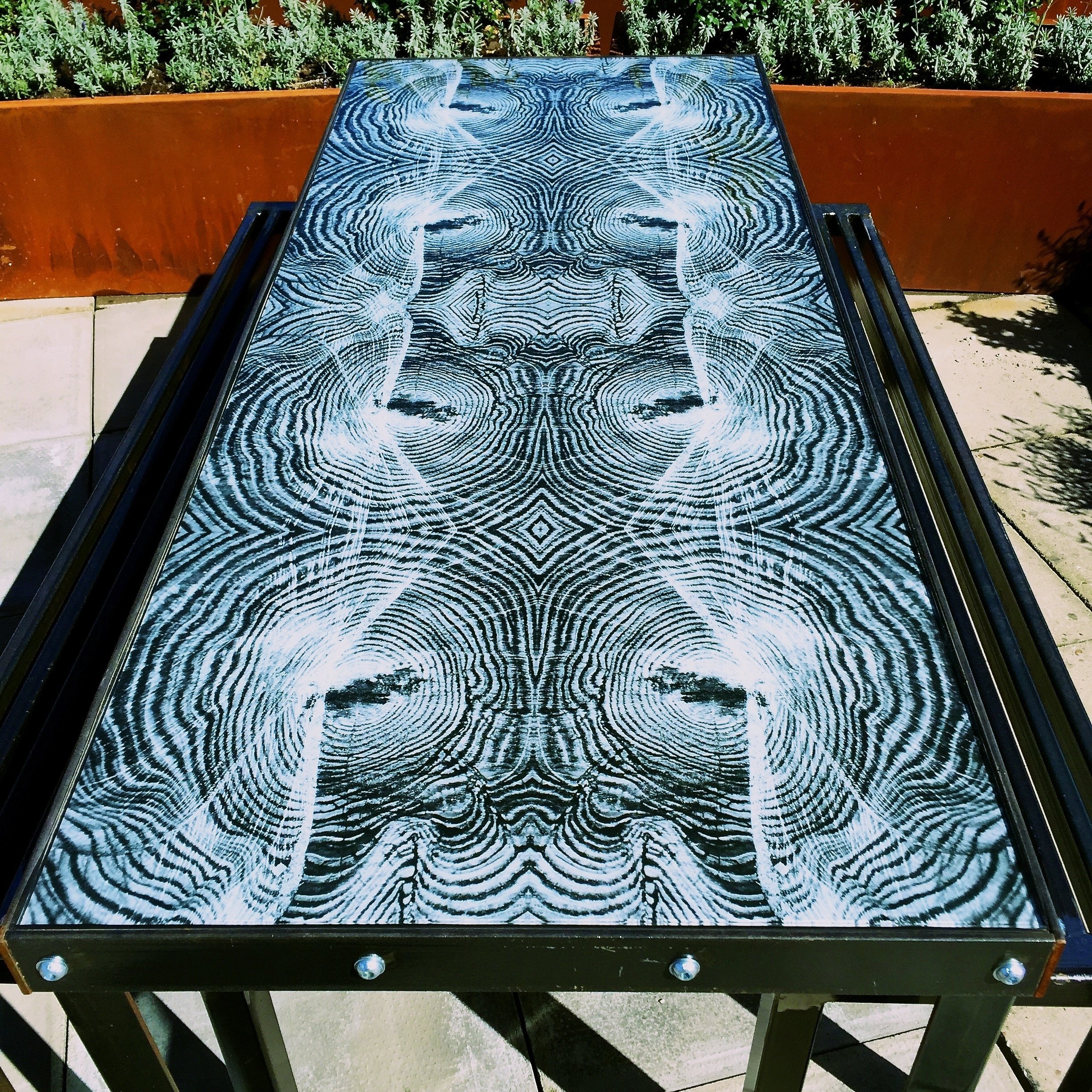 BBC Worldwide Glass Table designed by John Rose