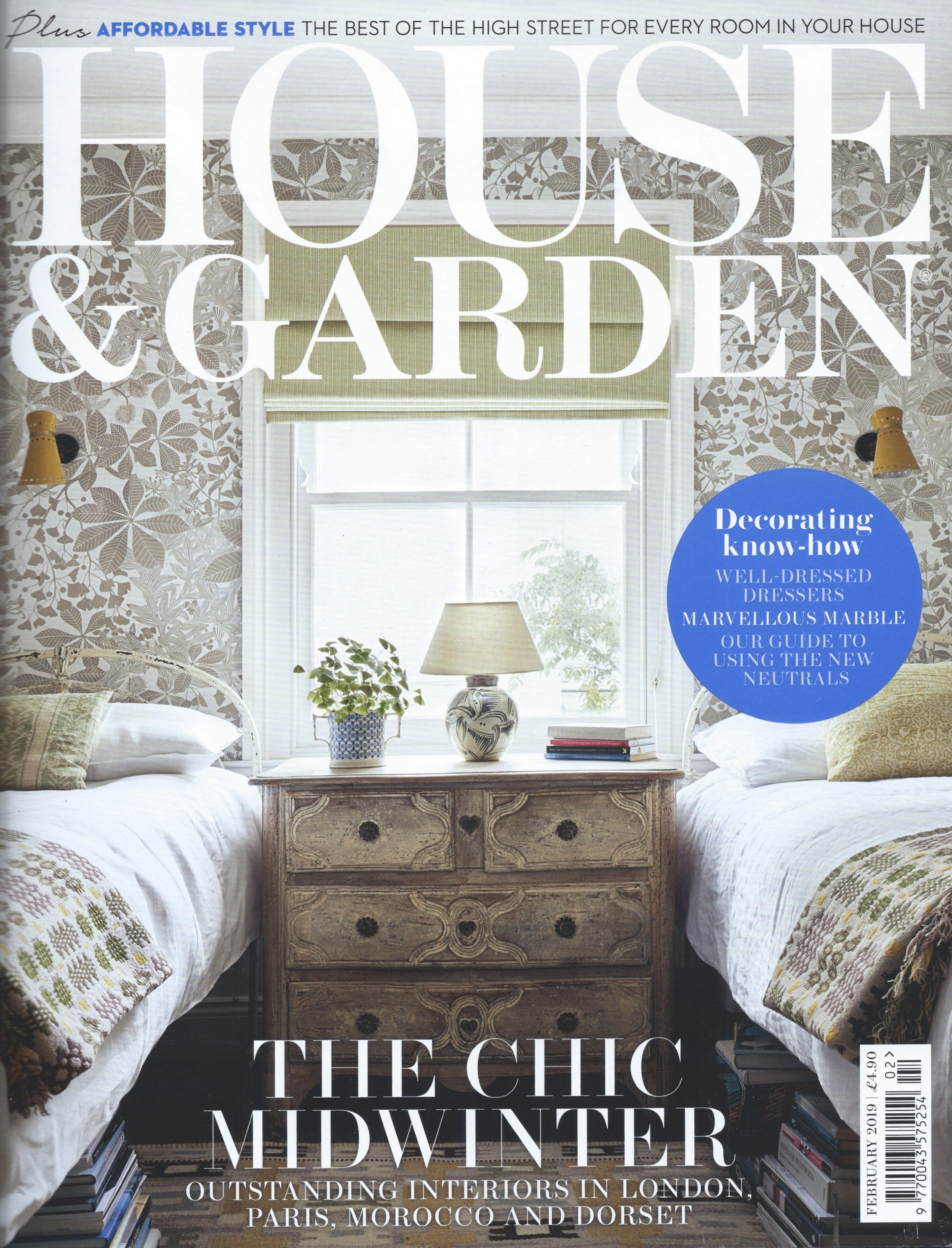 Mattie Morgan and John Rose House & Garden February Cover