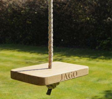 Personalised Wooden Garden Swings