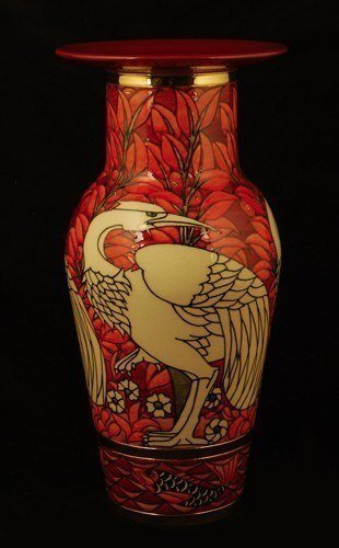 Red Waterbird Vase