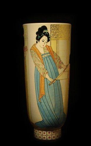 Chinese Silk Vase