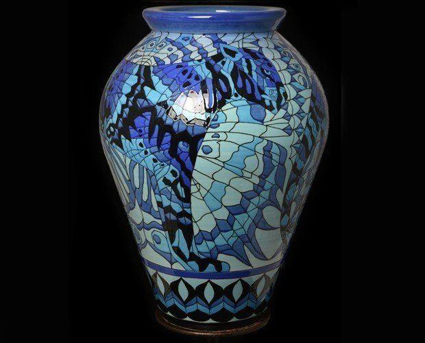 Tiger Moth Vase