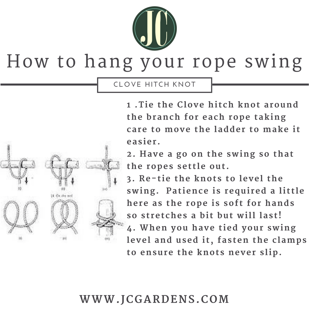 How to hang a traditional rope tree swing from your tree