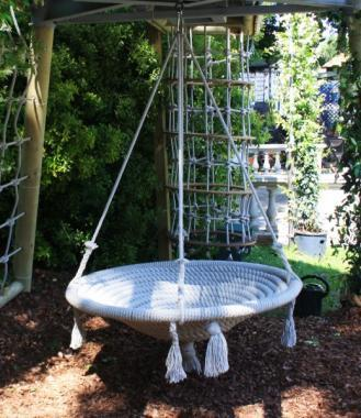 luxury garden swing - round nest rope swing