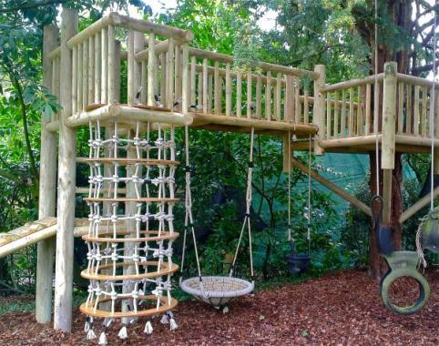 nest swing shown on one of our bespoke children's playground