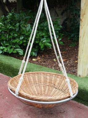 nest swing made from wicker