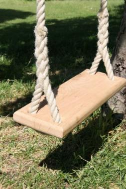 english oak handmade traditional rope tree swing