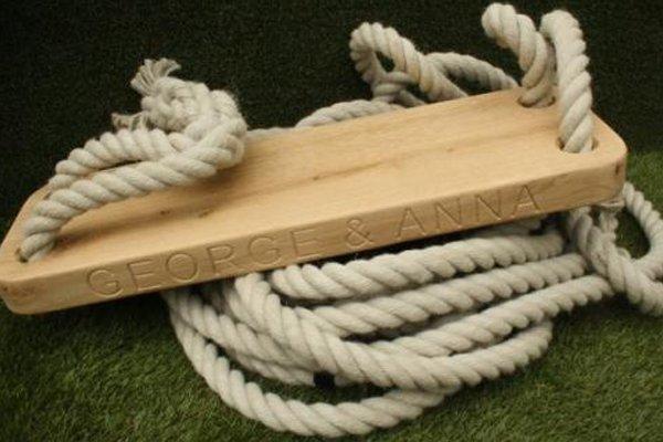personalised rope tree swing