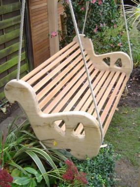oak bench garden swing