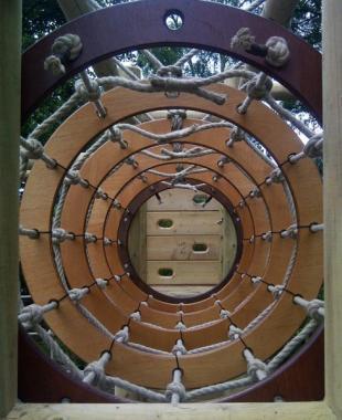 playground rope tunnel