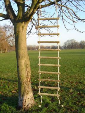 Wooden Rope tree ladder