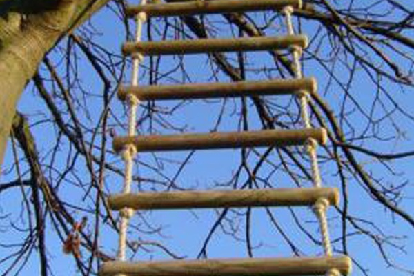 Wooden Rope Ladder for trees