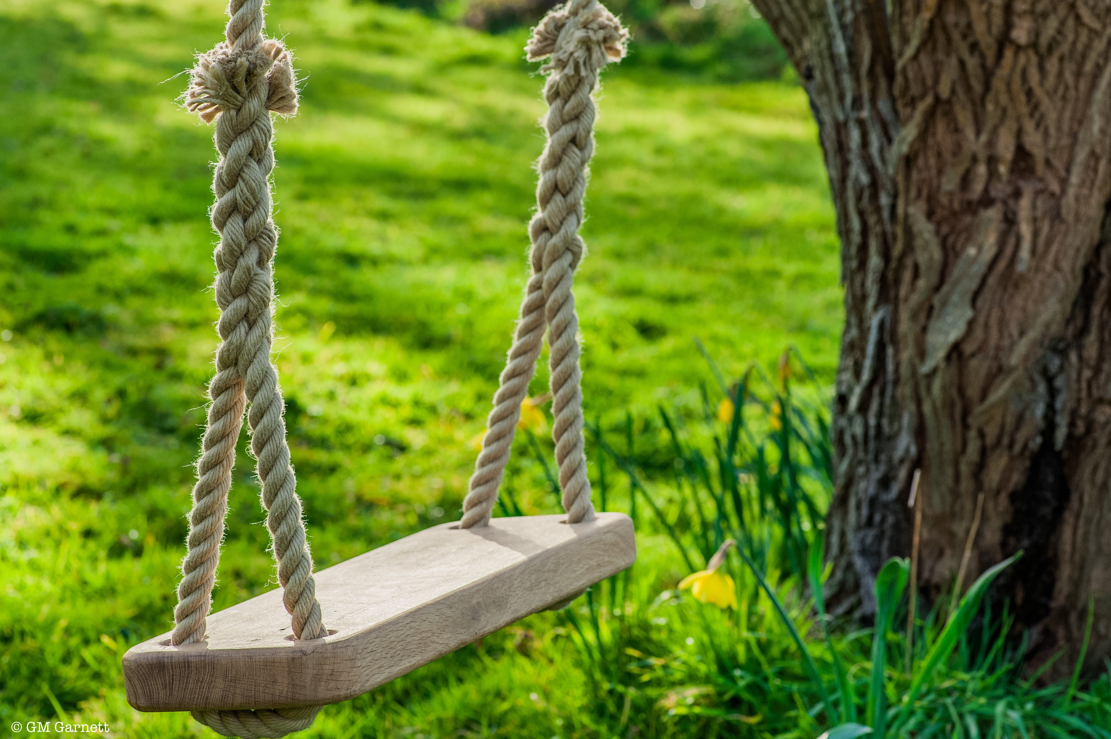 Wooden Rope Swing made in English Oak