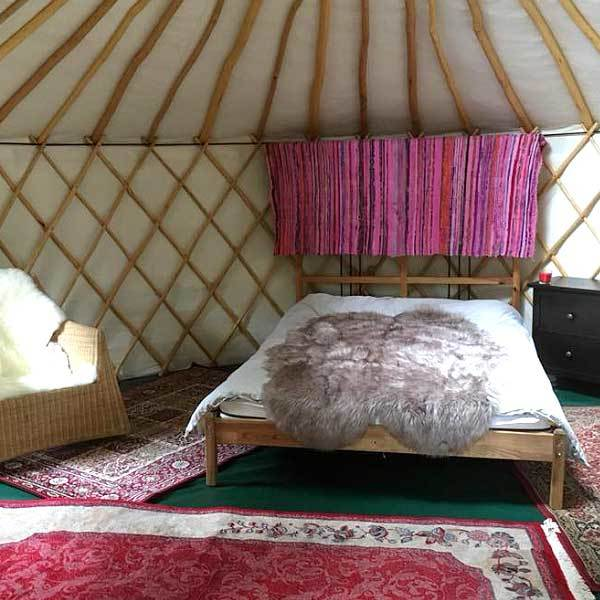 Yurt interior - Double Bed