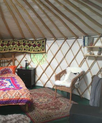Yurt interior - Double Bed