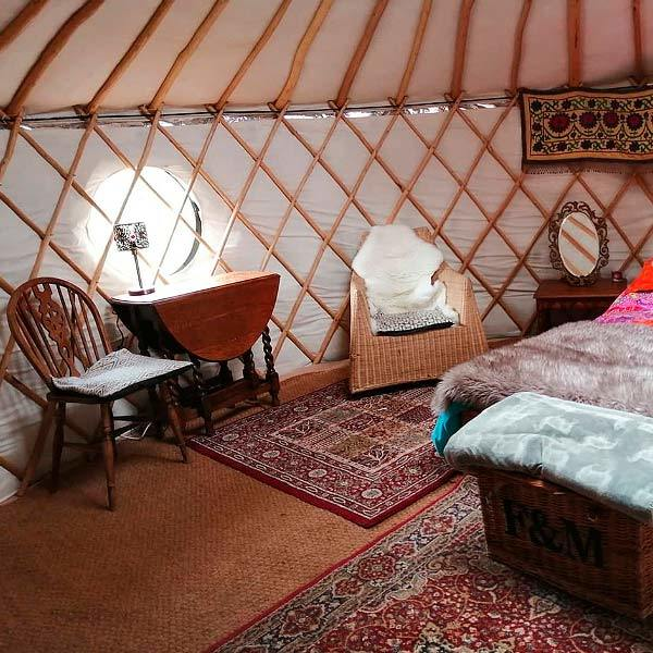 Yurt interior - Window