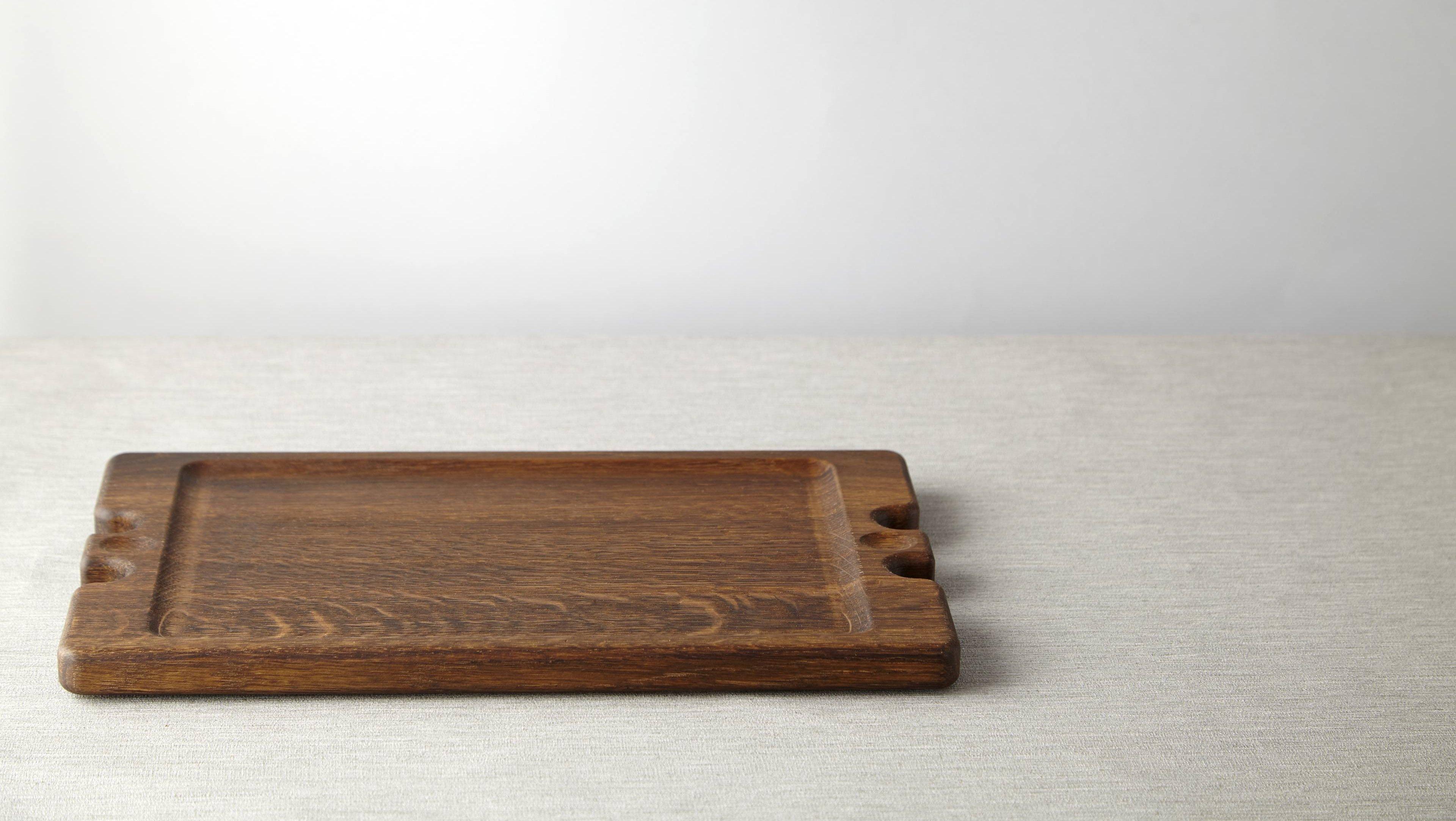 Wooden serving board made from fumed oak