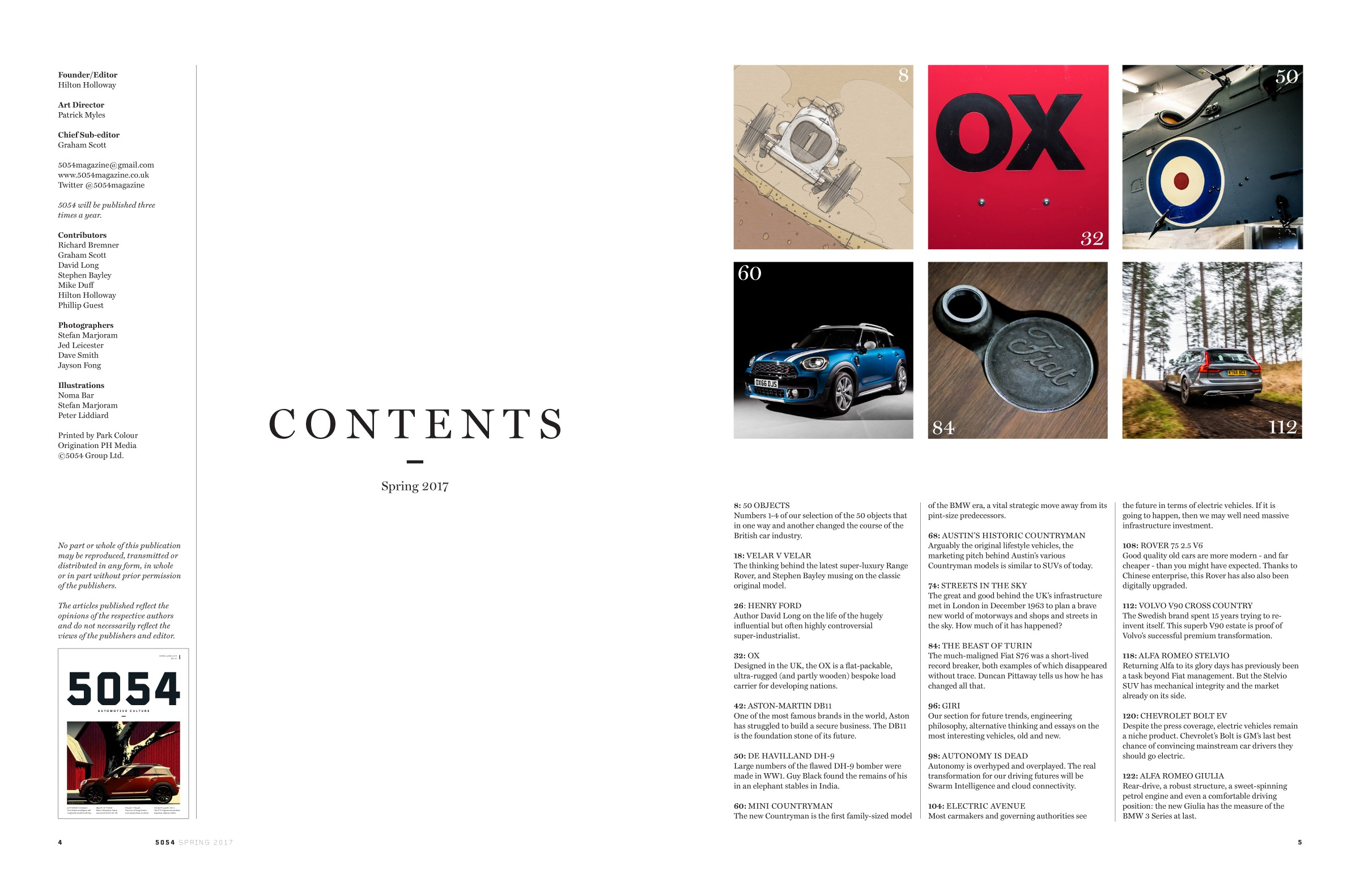 5054 Magazine Issue 1 contents