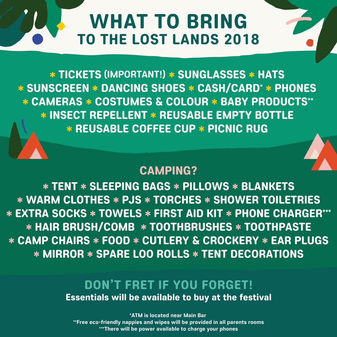 What to bring to The Lost Lands 2018