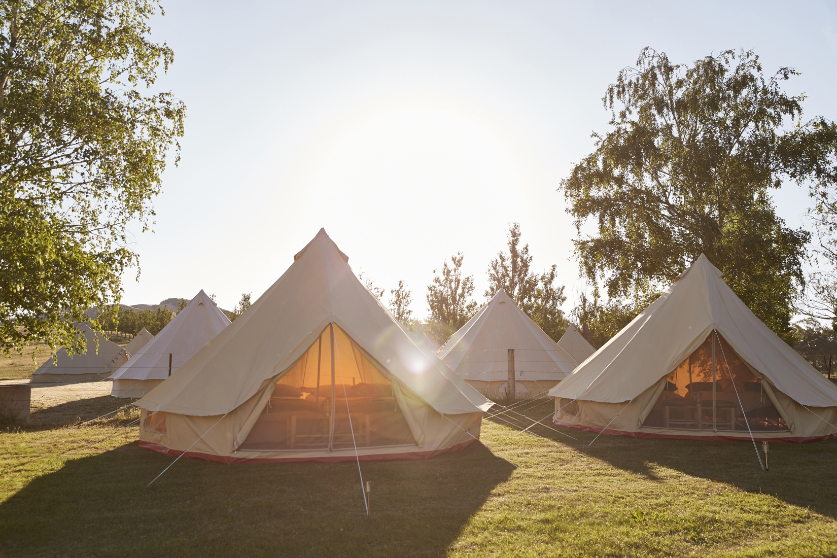 Under Sky glamping bell tents