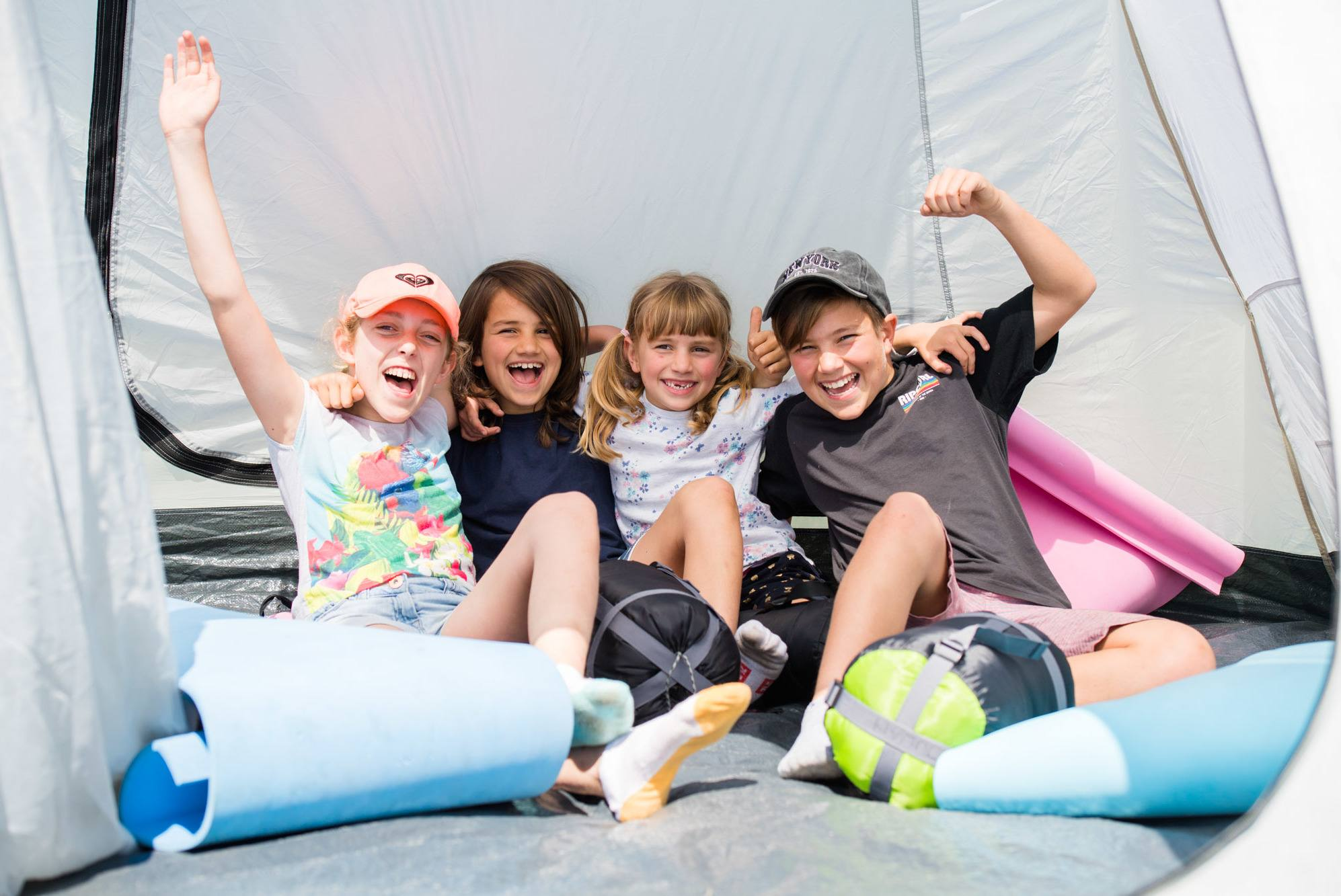 Kids happy in a tent at The Lost Lands 2016