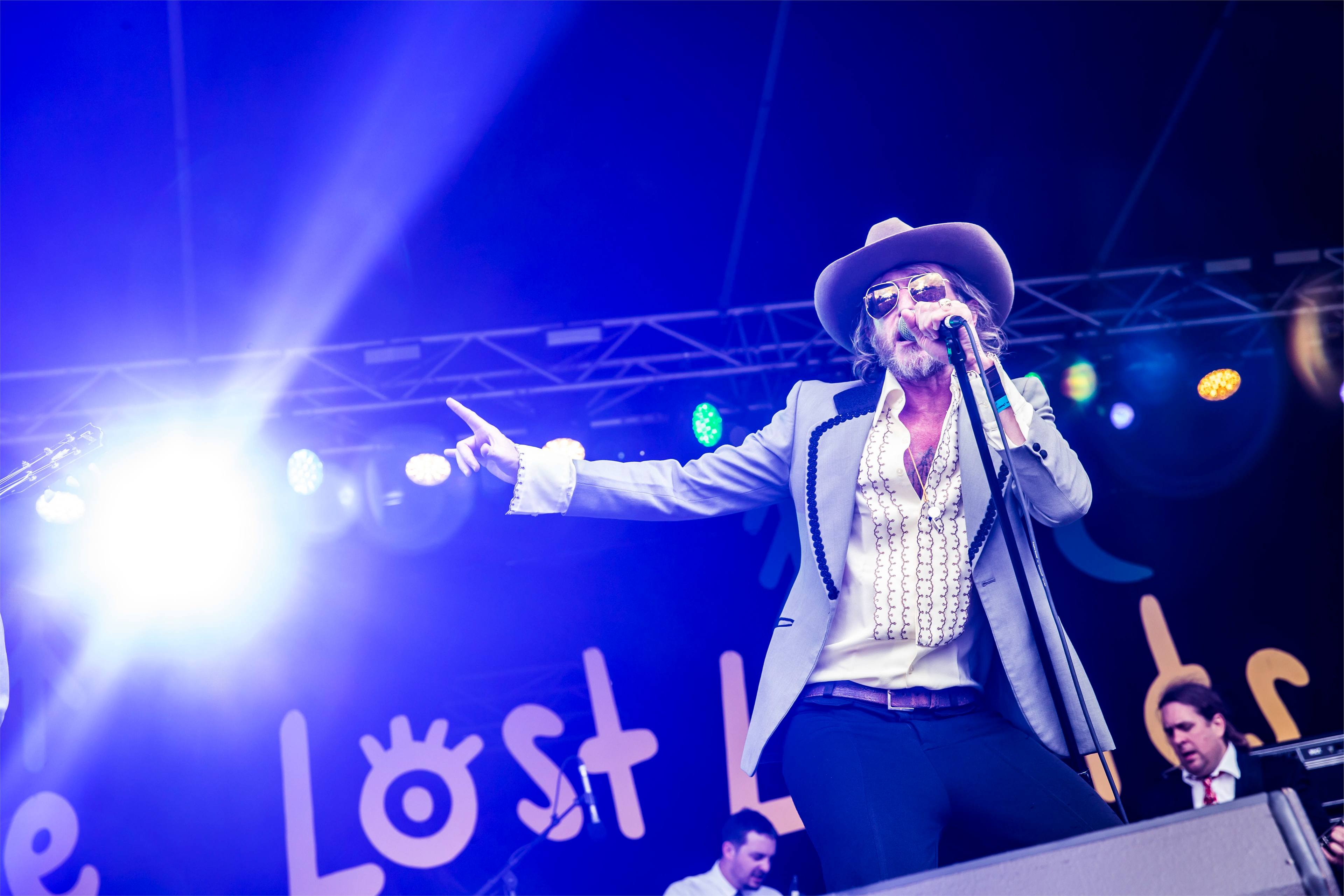 Tim Rogers performing at The Lost Lands 2016