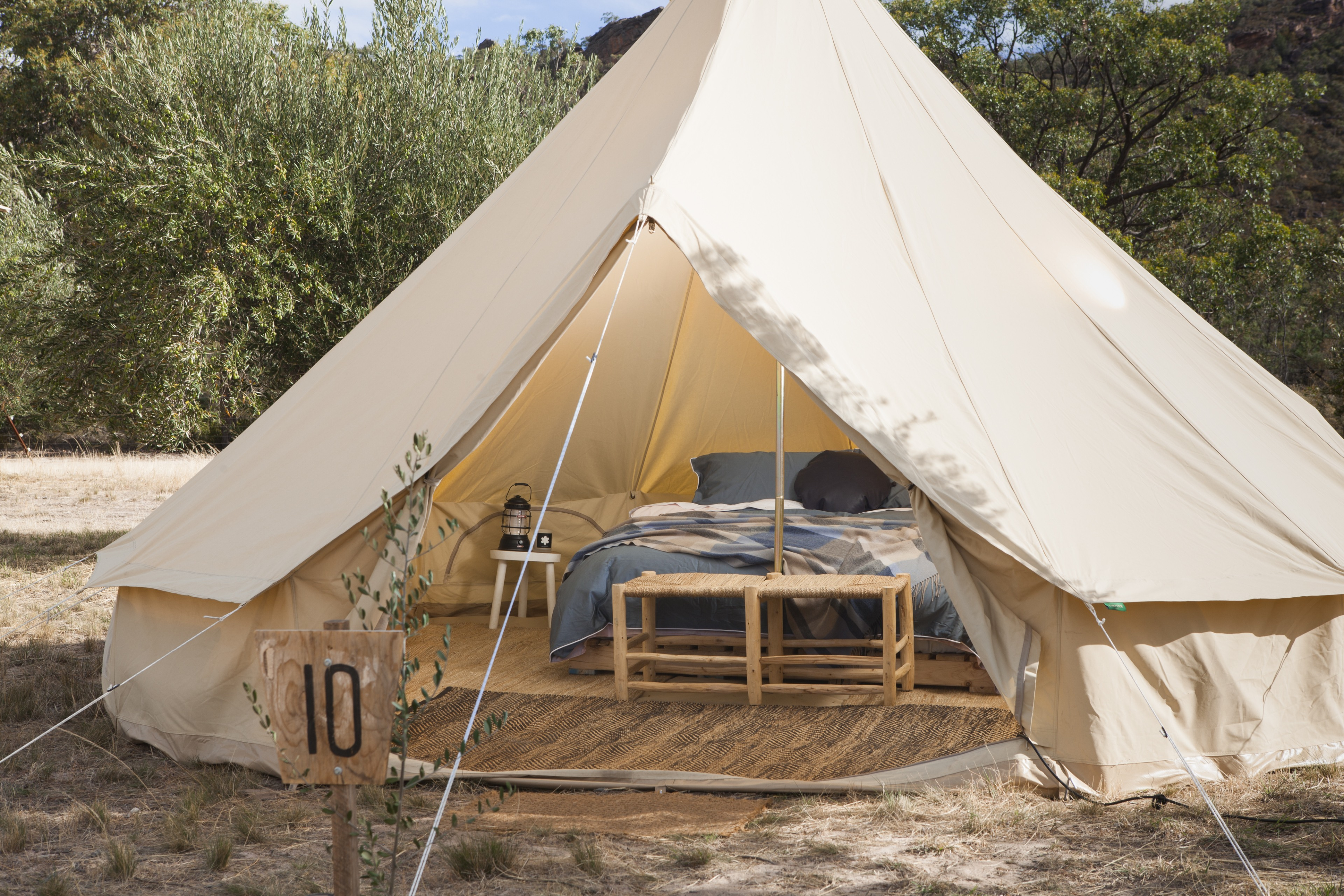 Under Sky glamping bell tent