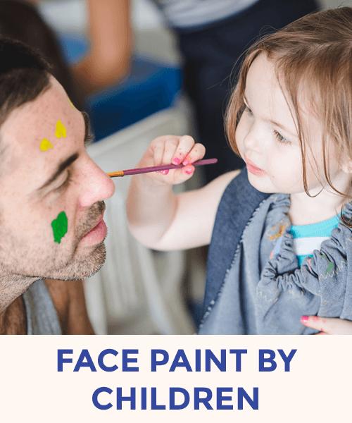 Face paint by children