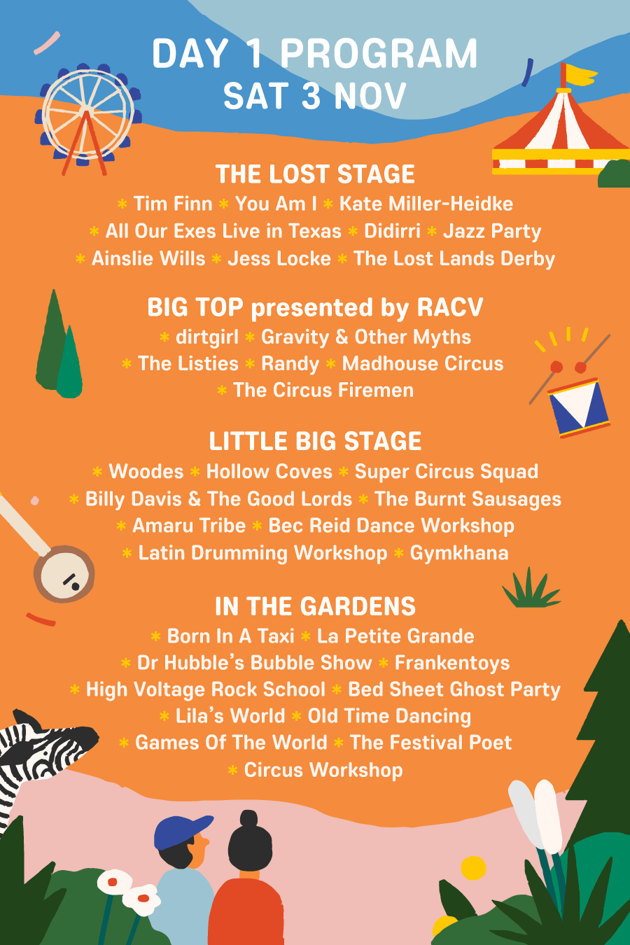 Day 1 Program - The Lost Lands