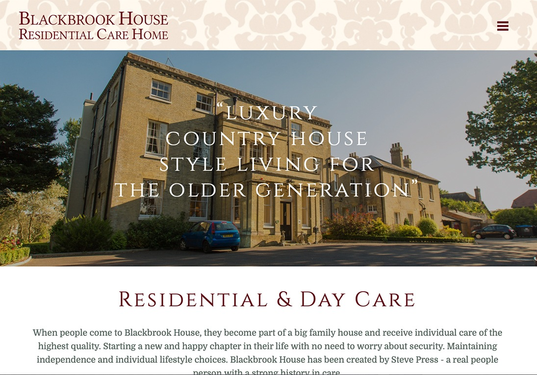 Blackbrook House website