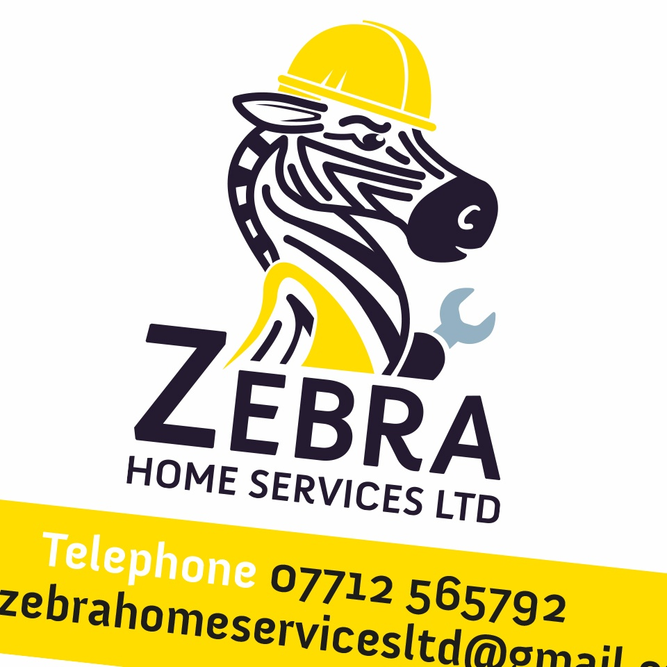 Ceratopia Business Card Design, Zebra Home Services