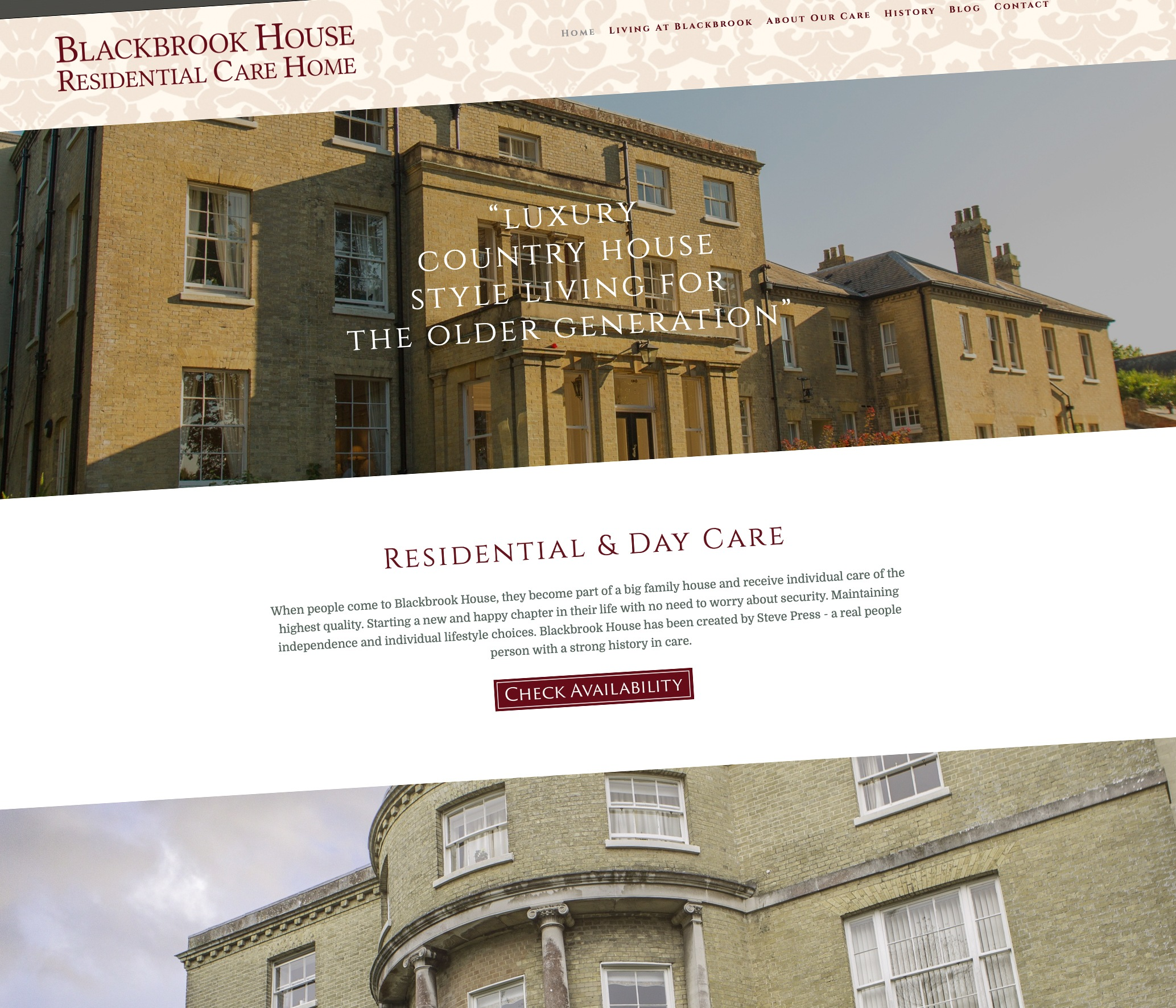 Ceratopia Web Design For Blackbrook House Residential Care Home