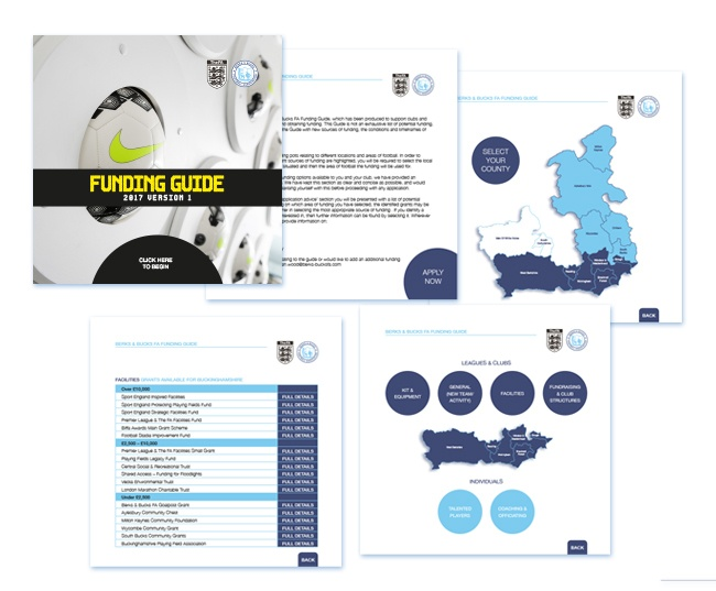 Interactive funding guide created for Berks & Bucks FA