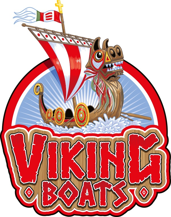 Paultons Park Viking Boats illustration by Ceratopia