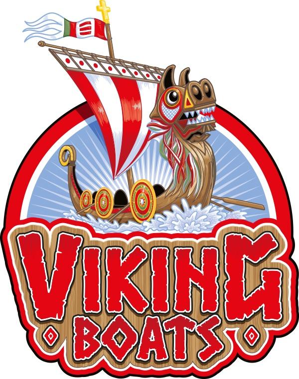 Paultons Park Viking Boats illustration by Ceratopia