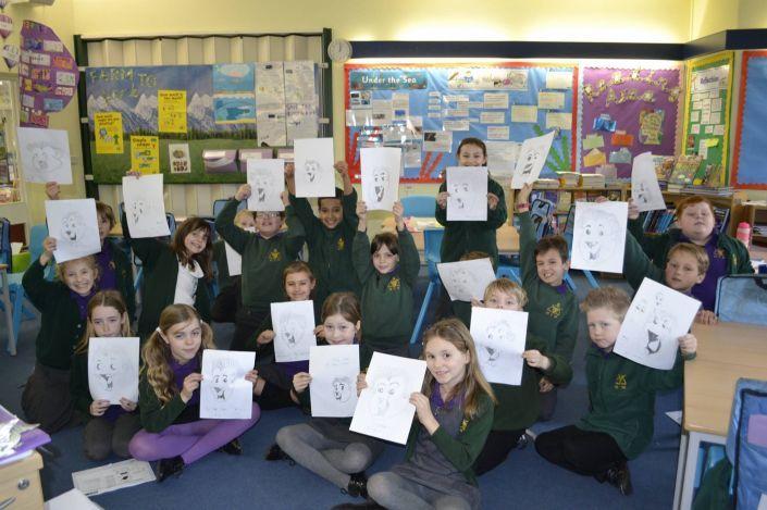Children enjoying one of Simon's workshops