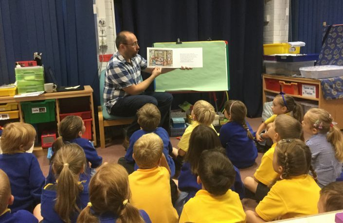 Simon reads one of his stories