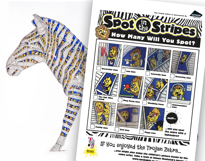 Simon's Zany Zebra fun sheet