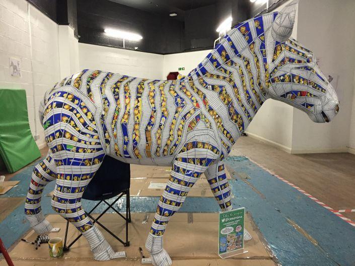 Simon's Zany Zebra design
