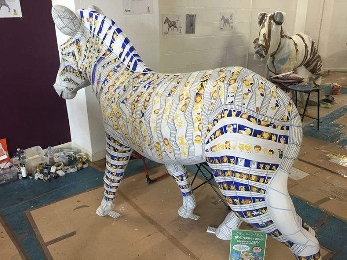 A view of the Trojan Zebra's world in progress