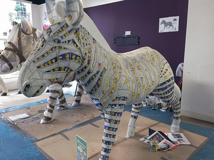 A busy Zany Zebra's workshop