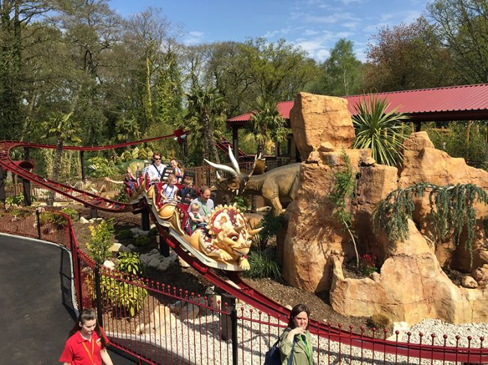 The Dino Chase ride at Paultons Park