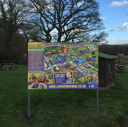 The Longdown Activity Farm You Are Here Board