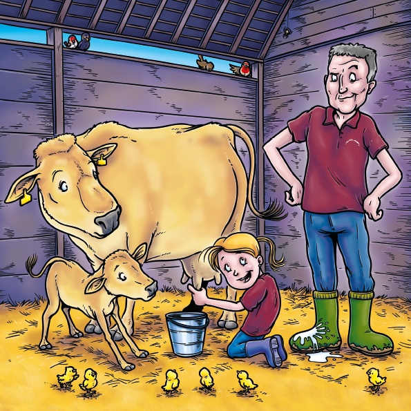 An illustration from Fudge The Jersey Cow