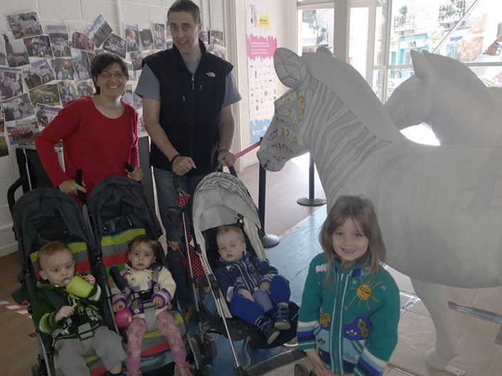 A family of helpers turn up to help