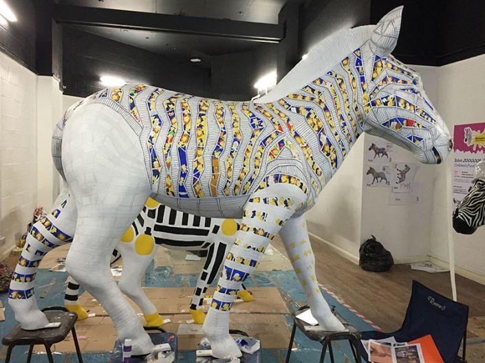 An almost complete side of Trojan Zebra